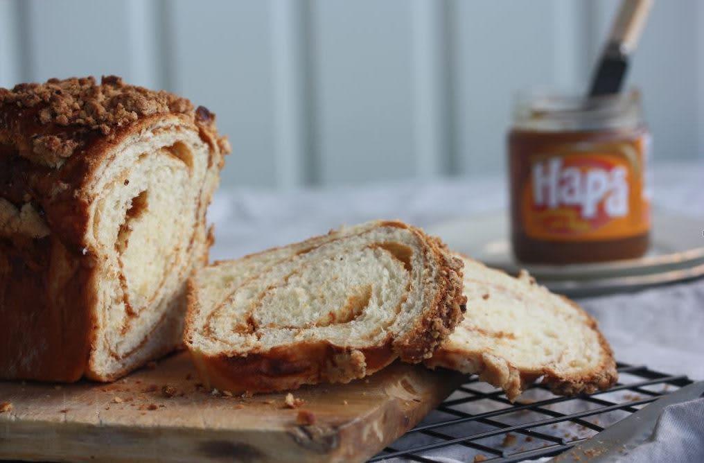 HaPå-brød med kanel og crumble.