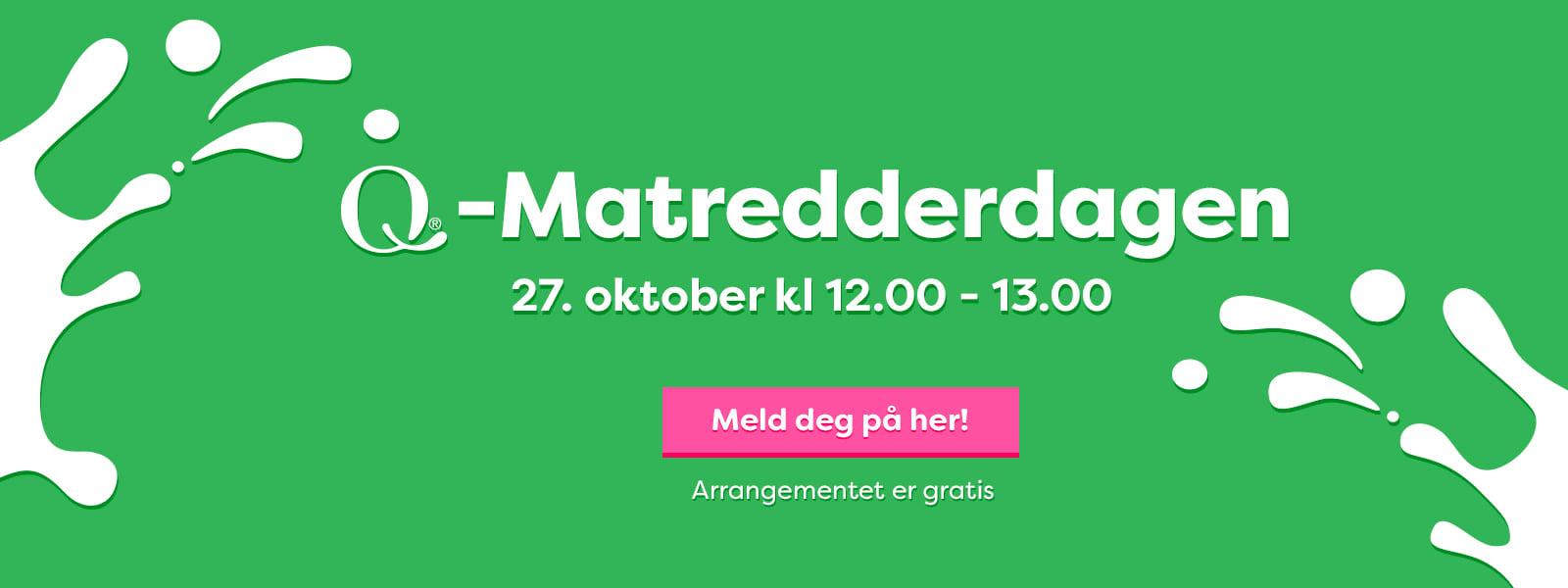Norges største matredderdag går av stabelen 27.oktober 2021