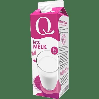 Q lettmelk er frisk og kjempegod.