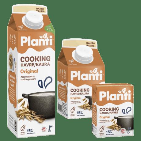 Planti Cooking Havre i tre förpackningar