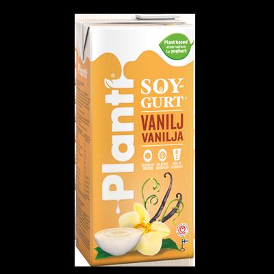 Planti Soygurt Vanilj förpackning