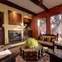 THE LIVING ROOM fireplace AT SEDONA VIEWS B&B