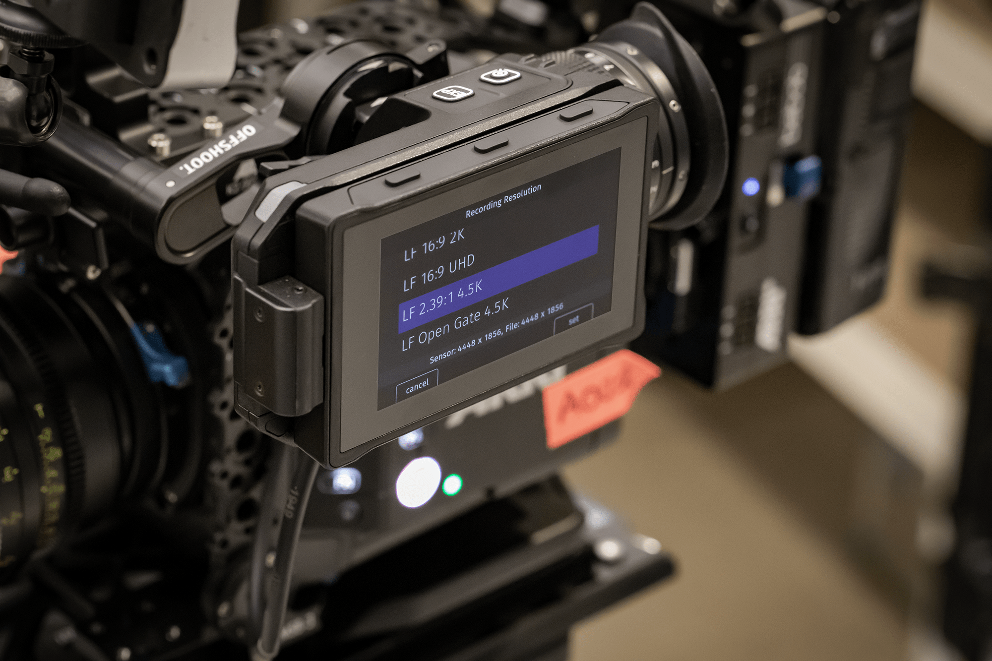Arri Alexa Mini LF Recording Resolutions