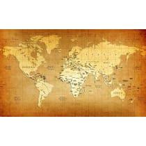 Painel Fotográfico Mapa Mundi Antigo Origini