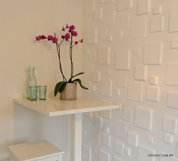 Painel de parede 3D Square Origini ambiente 2