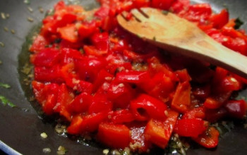 Caramelized Onion and Red Pepper Sauce