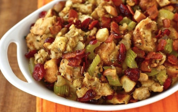 Cranberry, Maple, and Almond Stuffing