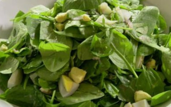 Fruited Wilted Spinach Salad