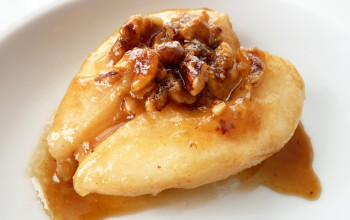Butter Baked Pears with Fruit and Nut Stuffing