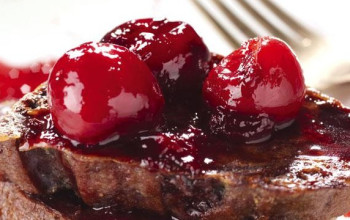 Chocolate Cherry French Toast