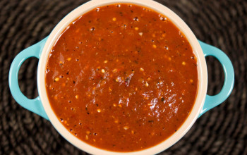 Smokey Chipotle Salsa with Roasted Tomatillos