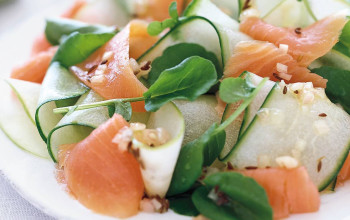 Smoked Salmon and Cucumber Ribbon Salad