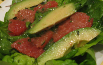 Grapefruit and Berried Avocado Salad