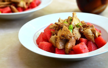 Oriental Watermelon and Chicken Salad