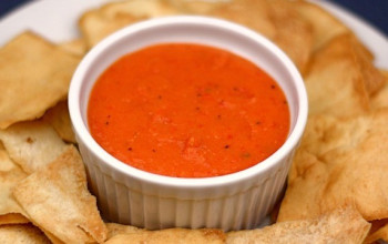 Roasted Pepper and White Bean Dip