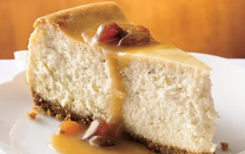 Brown Sugar Cheesecake with Bourbon Sauce