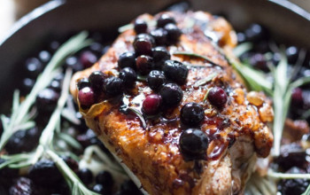 Turkey Breast with Blueberry Citrus Sauce