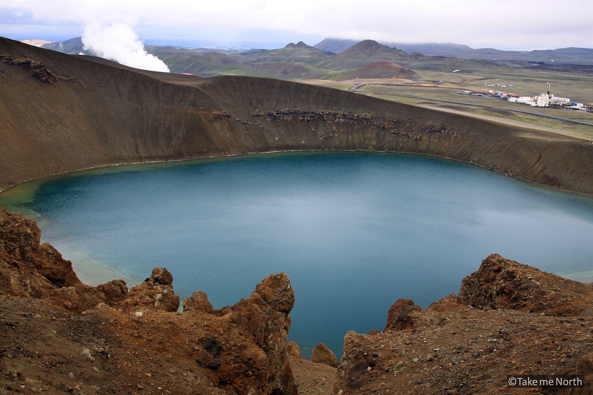 The crater of the Víti, Krafla