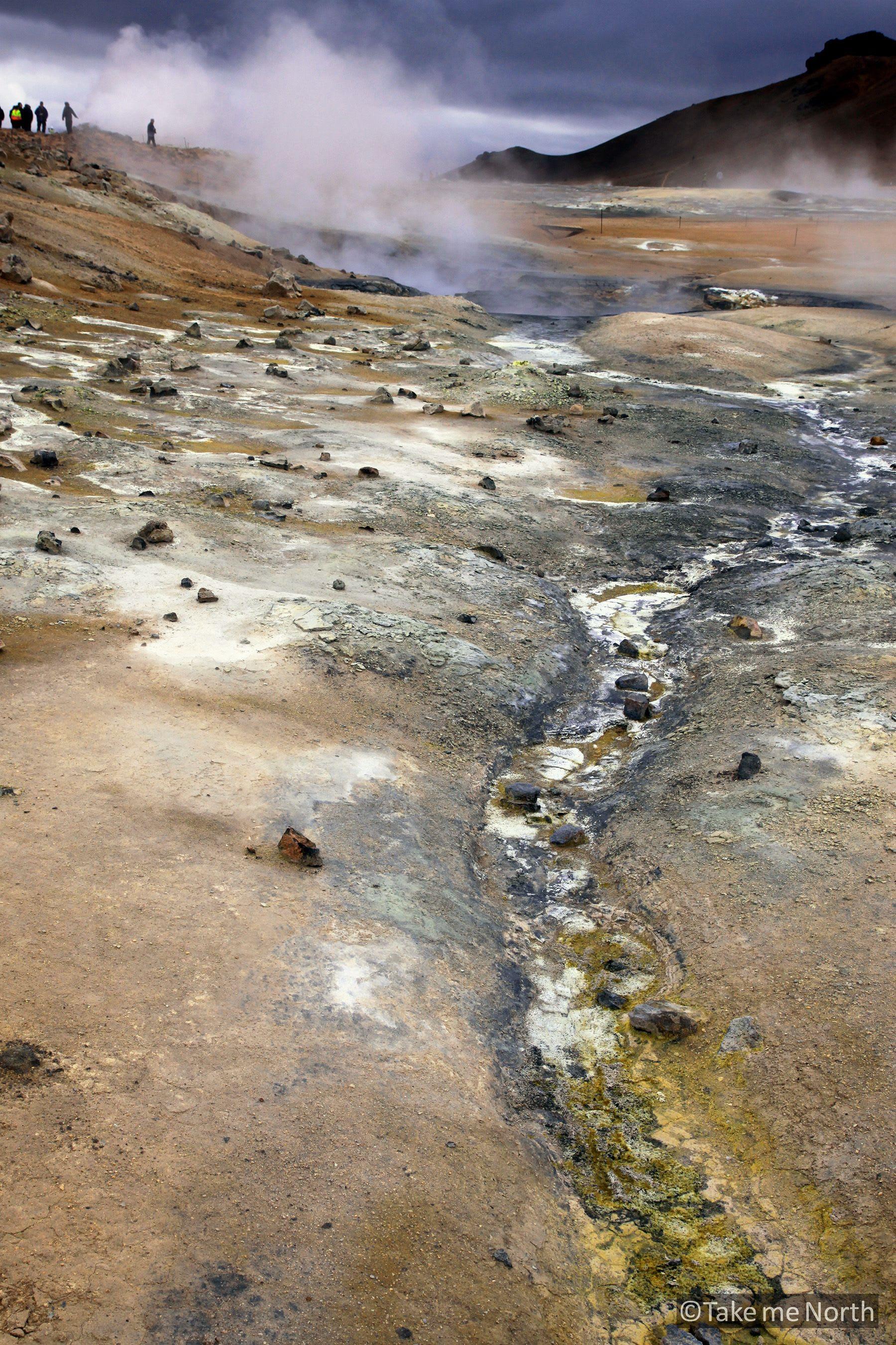 Mineral deposits at Hverir, Krafla