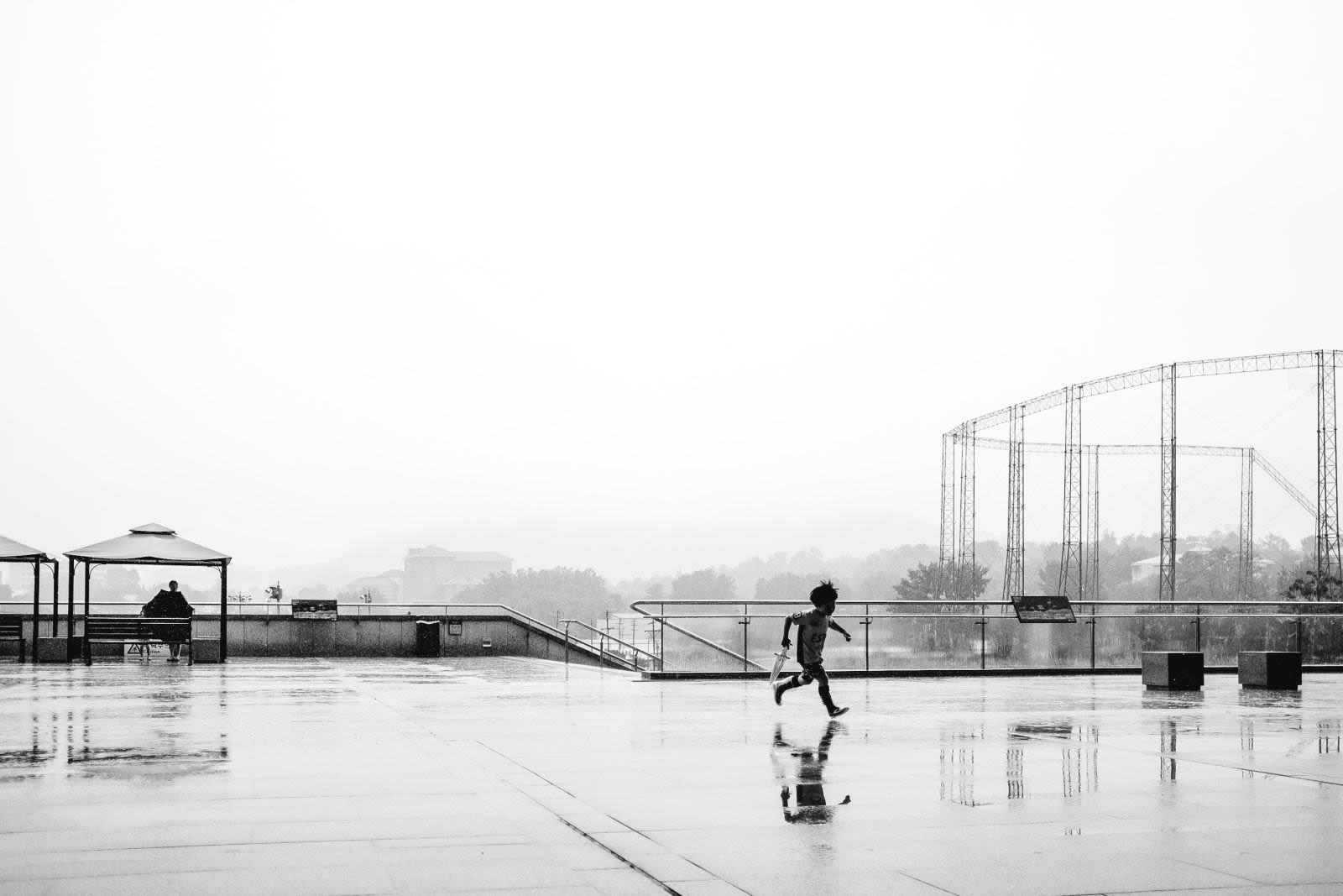 Rainy day.