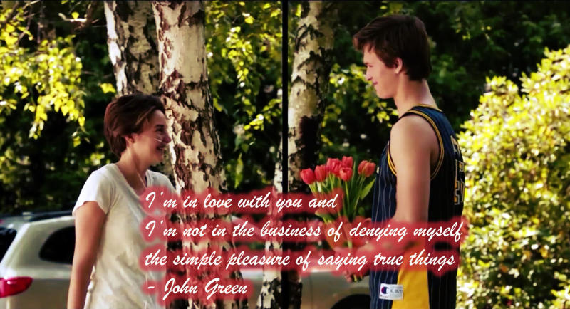 I'm in love with you.. - John Green Quotes (The Fault in Our Stars)