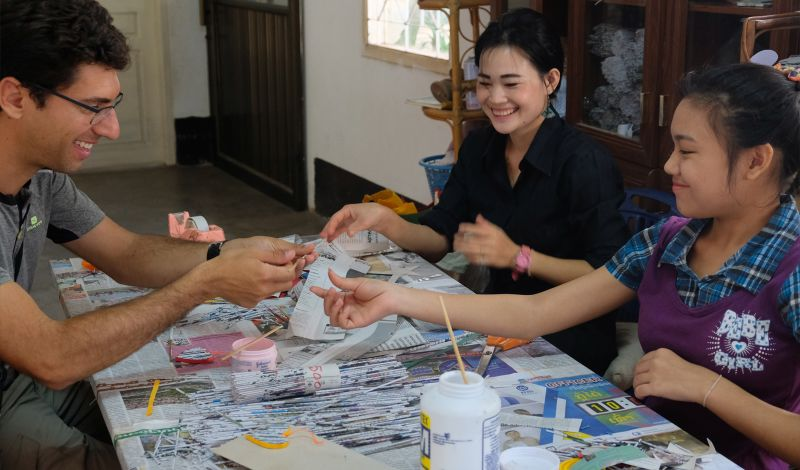 Lao Disabled Women's Development Centre: Vientiane Craft Tour: Make Handicrafts & Learn Sign Language