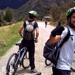 biking in Ecuador