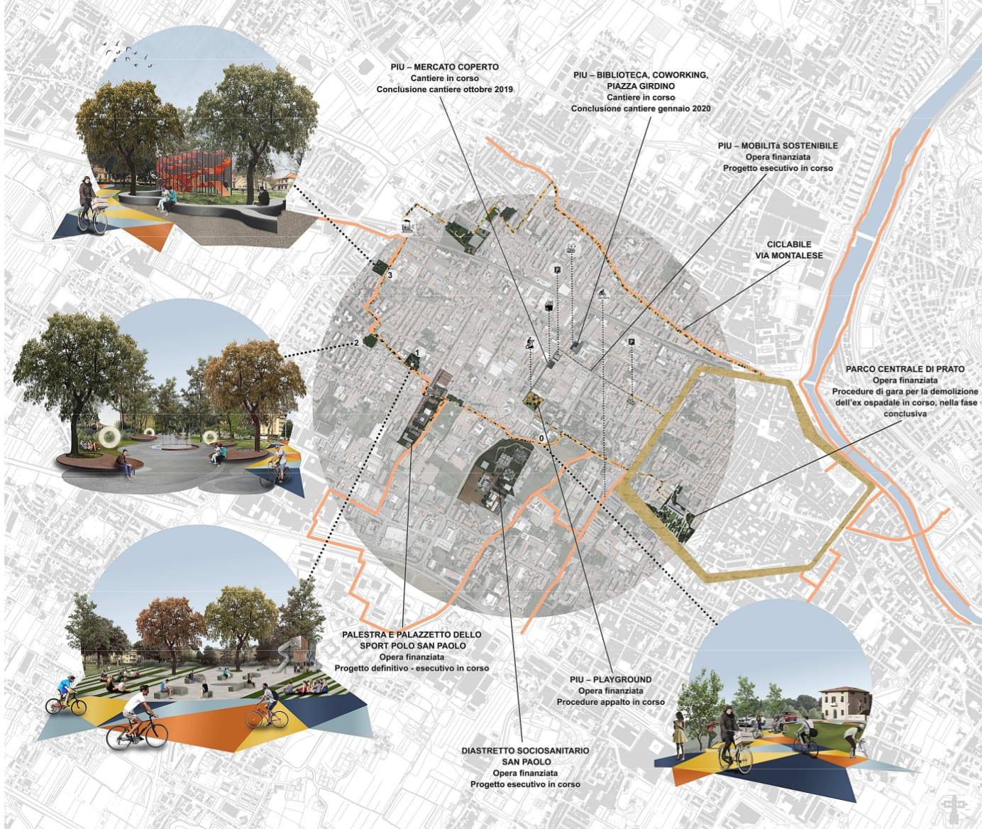 Riqualificazione anche per i giardini di San Paolo e Chiesanuova