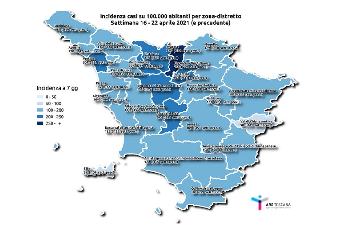 "Ars: ""Riaperture troppo anticipate"" in Toscana"