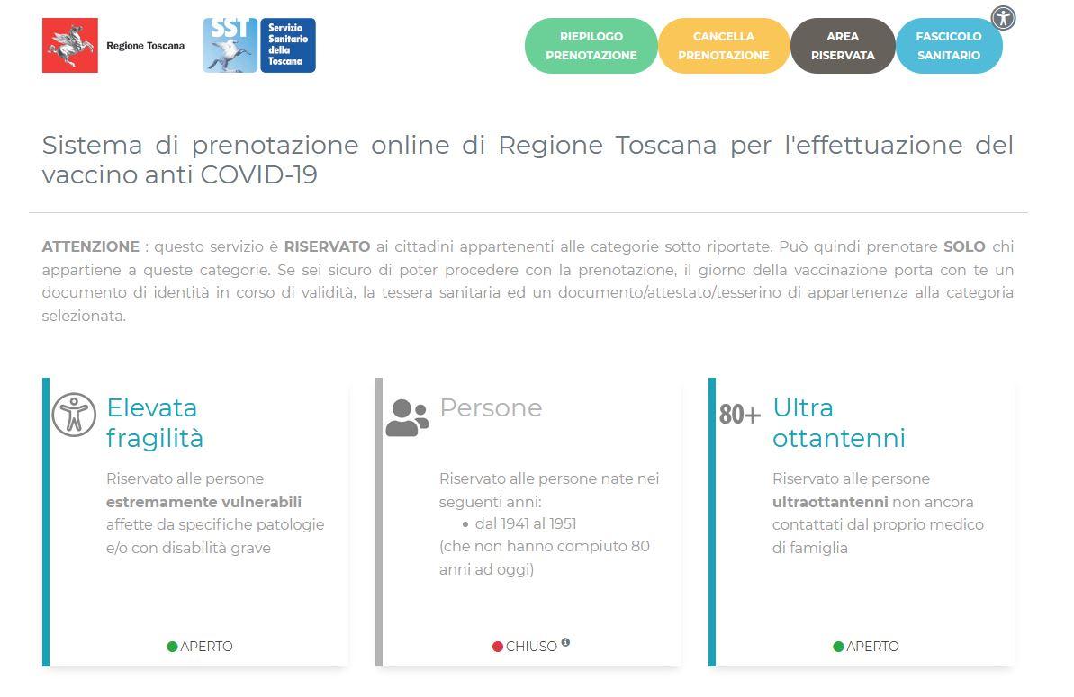Come rimanere aggiornati sulla prenotazione dei vaccini in Toscana
