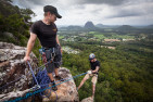 Abseiling In The Glasshouse Mountains
