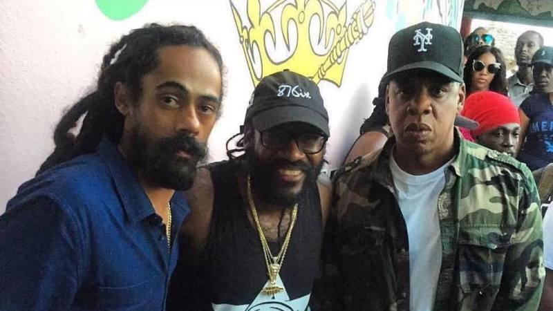 Jay z heads to studio in jamaica links up with damian marley and instagram thecheapjerseys Gallery