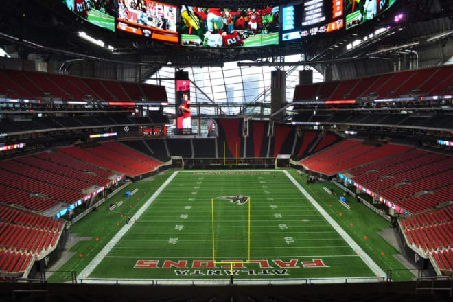 Mercedes-Benz Stadium will host the Notre Dame-Georgia Tech games in 2020 and 2024.