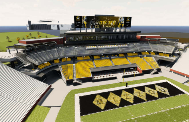 Missouri spent nearly $100 million and decreased it's stadium capacity by nearly 6,000 by adding premium seating in their south end zone.