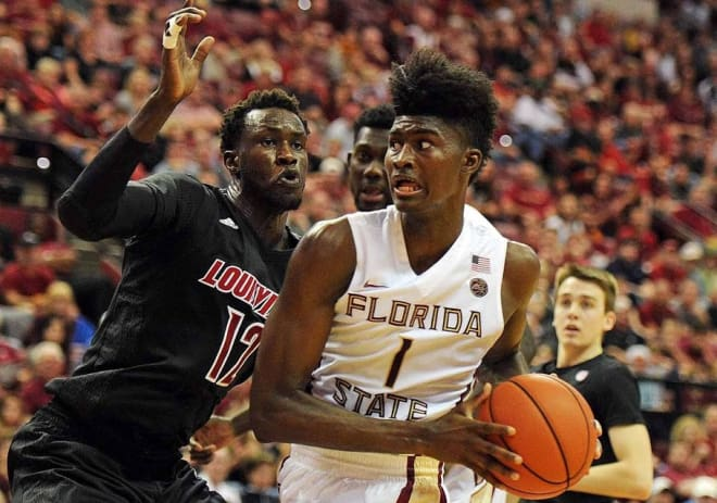 Freshman forward Jonathan Isaac and Florida State snapped its two-game losing streak with a win at Miami on Wednesday.