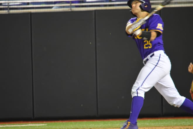 Christian Smallwood's twelfth inning hit propelled ECU to a 4-3 game two win over Marist.