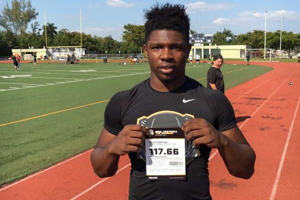 Nebraska landed their first 2017 commit on Wednesday from West Palm Beach LB Willie Hampton.