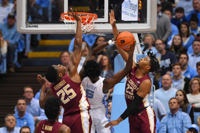 No. 8 North Carolina Rolls Past FSU, 77-59