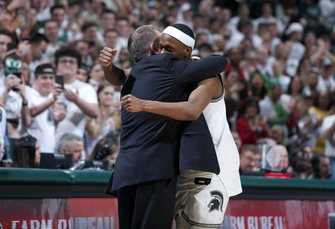Cassius Winston and Tom Izzo