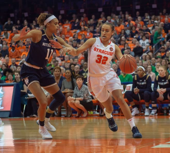 Brianna Turner scored 22 points and grabbed eight rebounds during Monday's 98-68 win at No. 17 Syracuse.