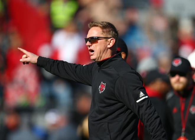 Arkansas State coach Blake Anderson is back on the sideline following the death of his wife Wendy.