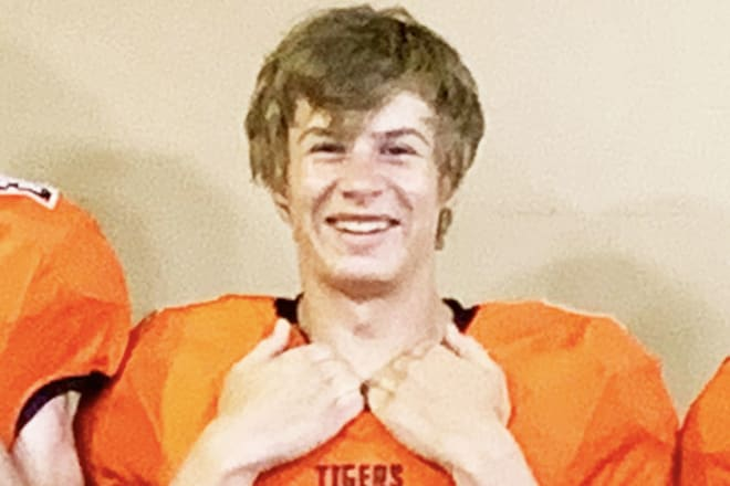Junior QB Justin Synek (4) led Hastings to an upset win at No. 4 McCook last Friday, the first time the Tigers had beaten McCook since 2000.