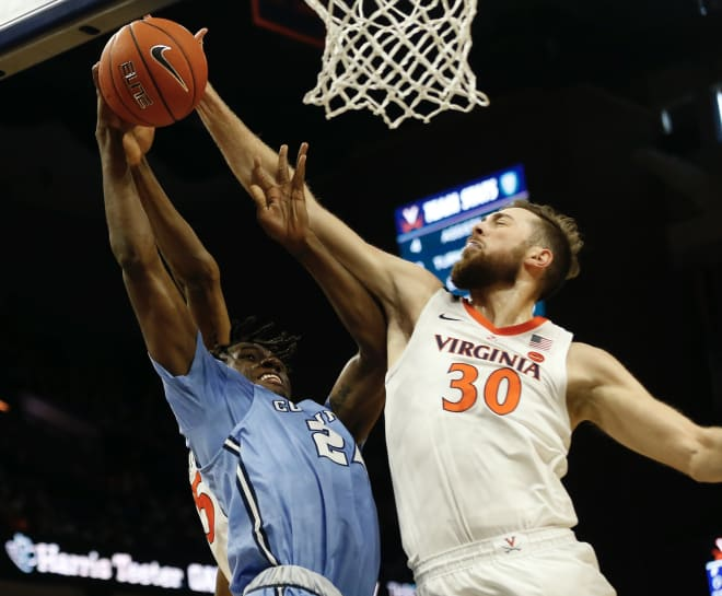 Jay Huff blocked five shots in addition to scoring 13 points and grabbing six rebounds.