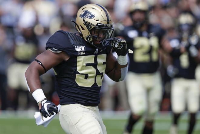 Derrick Barnes has contributed to a Purdue pass rush that has at least looked more effective than last season.