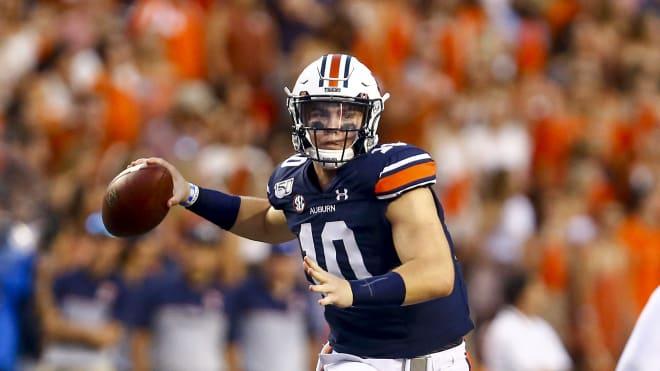 Auburn starting quarterback, true freshman Bo Nix.
