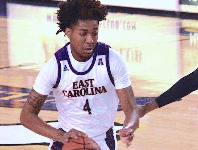 Brandon Suggs and ECU fall to Kansas City 74-68 in the Island of the Bahamas Showcase.