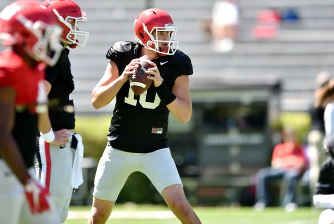 Kirby Smart said Jacob Eason has improved a lot in the film room.