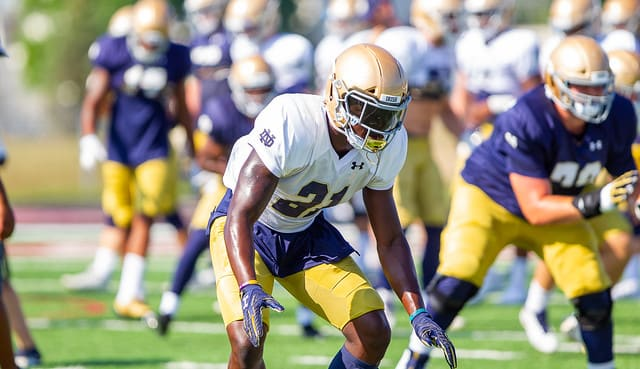 Jalen Elliott is the lone 2019 Fighting Irish player to have started every game the past two years.
