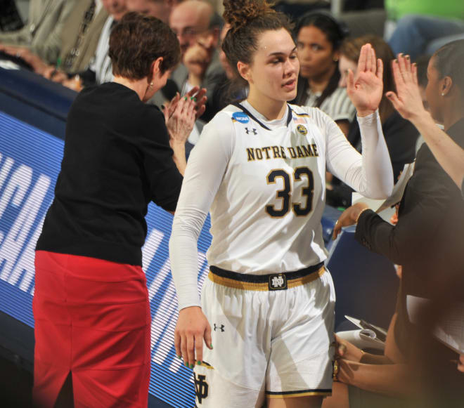 Kathryn Westbeld's Return Sparks Notre Dame To Second-Round Win