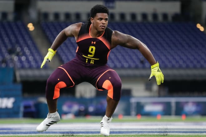 Devin Bush ran a 4.43 40-yard dash yesterday at the NFL combine.